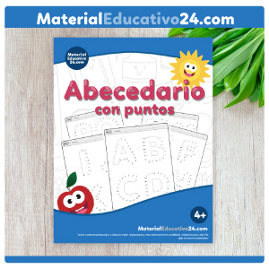 Cuaderno de abecedario de puntos