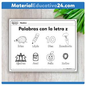 Imagenes con Palabras con la letra z para niños