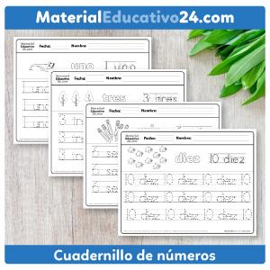 Cuadernillo de números hasta el 10